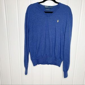 Polo by Ralph Lauren Blue Merino Wool Sweater XXL